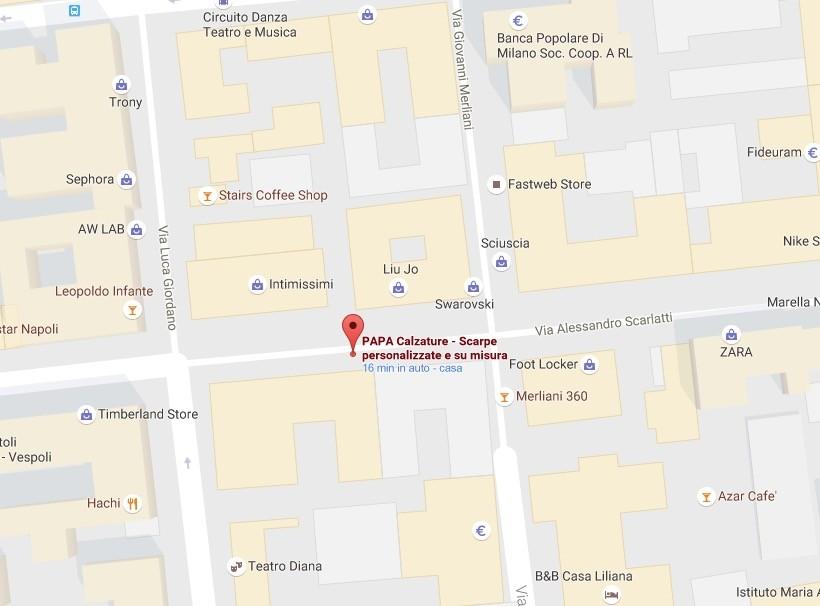 Mappa stradale Papa
