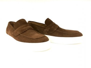 Sneakers in camoscio marrone