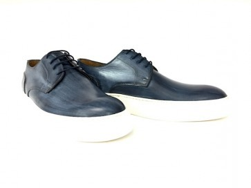 Sneakers in vitello blu