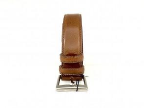 Cintura da uomo in pelle cuoio 3,5 cm