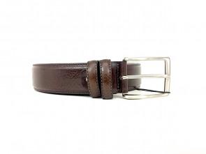 Cintura da uomo in pelle testa di moro 3,5 cm