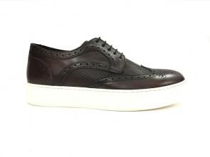 Sneakers in vitello marrone