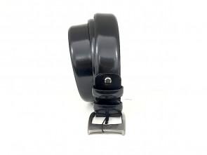 Cintura da uomo in vitello abrasivato nero 3,5 cm