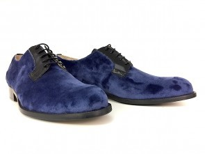 Derby in alcantara blu