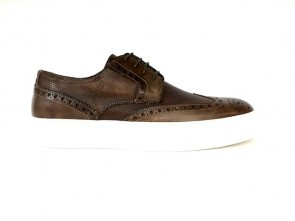 Sneakers in vitello brandy