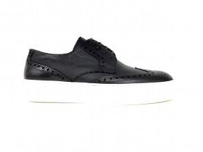 Sneakers in vitello nero