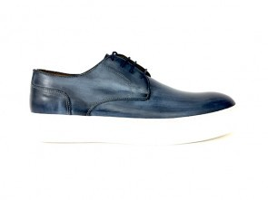 Sneakers in vitello blu
