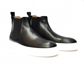 Stivaletto Beatles da uomo versione sneakers in pelle nera