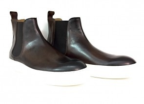Stivaletto Beatles da uomo in pelle brandy anticato