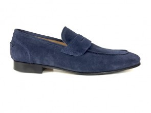 Mocassino in camoscio blu