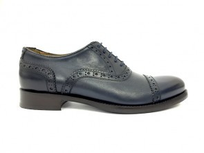 Francesina donna in vitello navy anticato