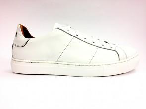 Sneakers bassa in pelle bianca