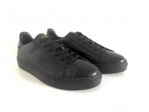 Sneakers bassa in pelle nera